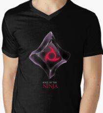 Seele des Ninja-schwarz T-Shirt mit V-Ausschnitt