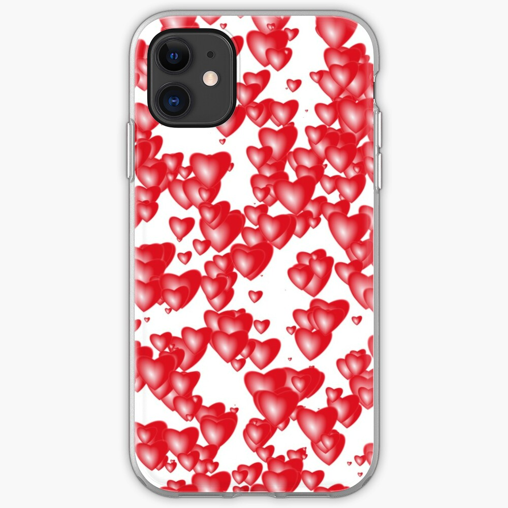 Red hearts iPhone Case & Cover
