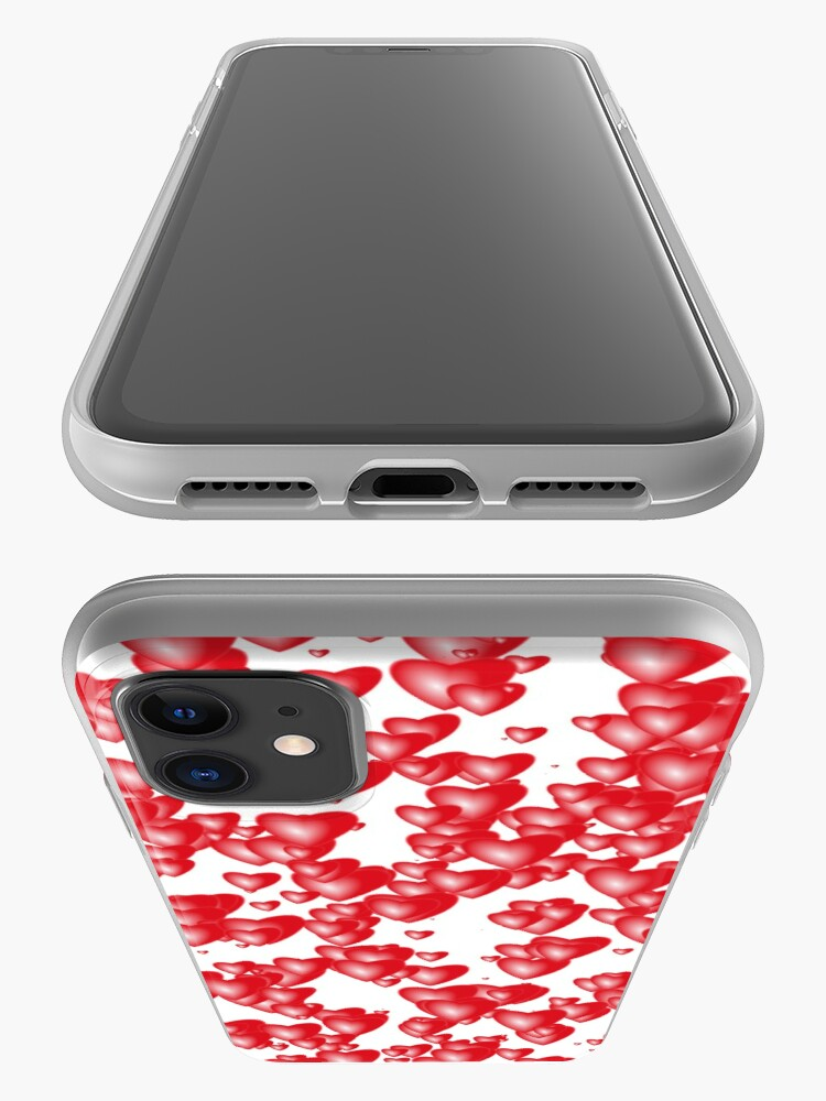 Alternate view of Red hearts iPhone Case & Cover