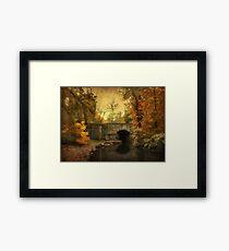 Bridge to Autumn Framed Print