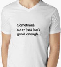 Sorry... Mens V-Neck T-Shirt