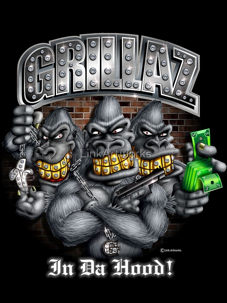 Grillaz (In Da Hood) Hip Hop Gangsta Gorillas by LinkArtworks