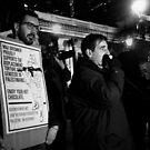 Palestinian Demonstration Melbourne 2 by Andrew  Makowiecki