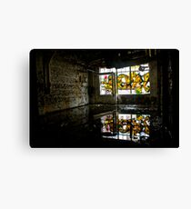 Illicit Inscriptions Reflection Canvas Print