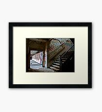 Illicit Inscriptions Staircase Framed Print