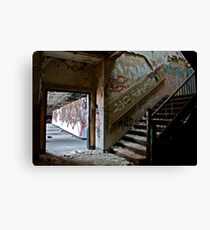 Illicit Inscriptions Staircase Canvas Print