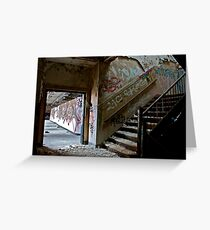 Illicit Inscriptions Staircase Greeting Card