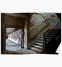 Illicit Inscriptions Staircase Poster