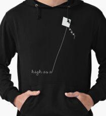 High as a Kite (white) Lightweight Hoodie