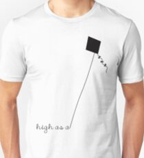 High as a Kite (black) Unisex T-Shirt