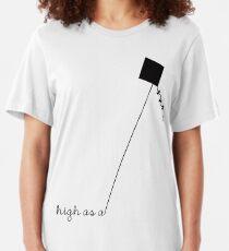 High as a Kite (black) Slim Fit T-Shirt