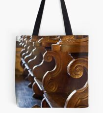 Rhodes Castle Benches Tote Bag