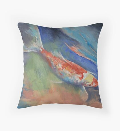 Coral and Moonstone Throw Pillow