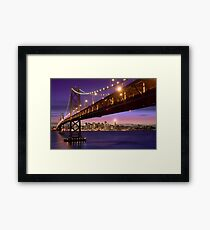 The SF Bay Bridge at Twilight Framed Print