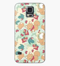 Funda/vinilo para Samsung Galaxy Shiba & Bird Strawberry Picnic