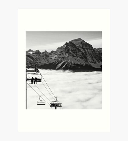 Chairlift to Heaven Art Print