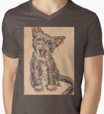 Cat Scratch Fever Mens V-Neck T-Shirt
