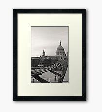 ST. PAUL'S CATHEDRAL MILLENNIUM BRIDGE LONDON Framed Print