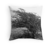 Windswept Tree - South Downs Throw Pillow