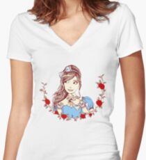 Alice Women's Fitted V-Neck T-Shirt