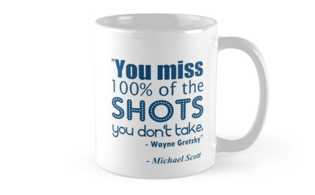 Gretzky Quote - Wraparound for Mugs by pickledbeets