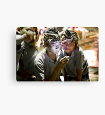 Illuminated by Phone Canvas Print