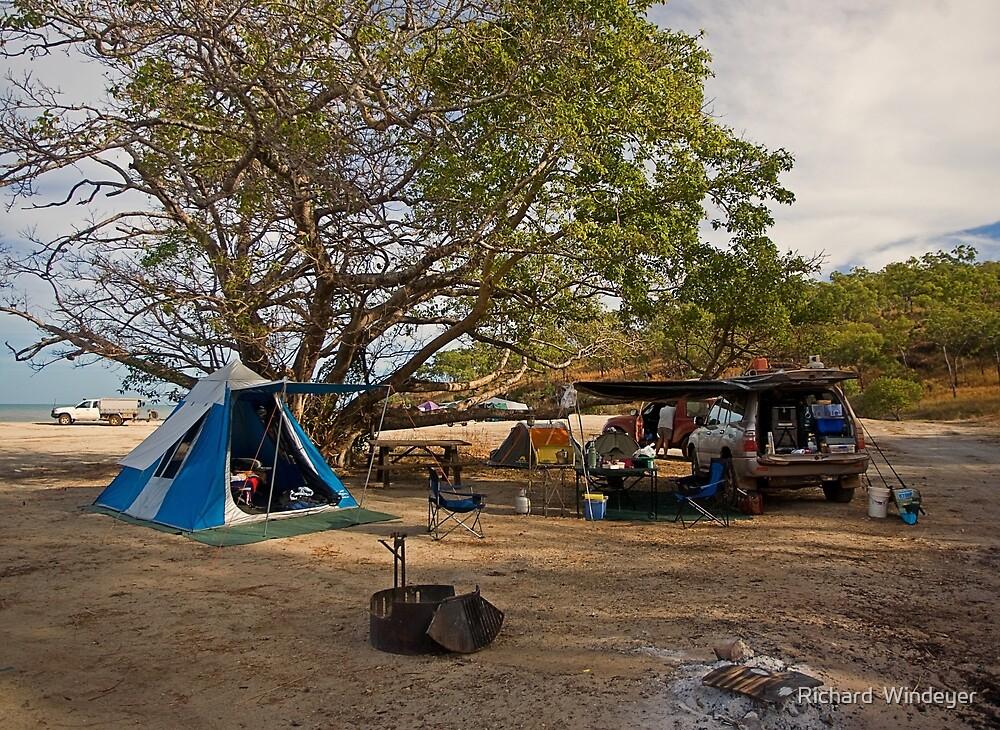 Campsite at Bathurst Head, Qld by Richard  Windeyer