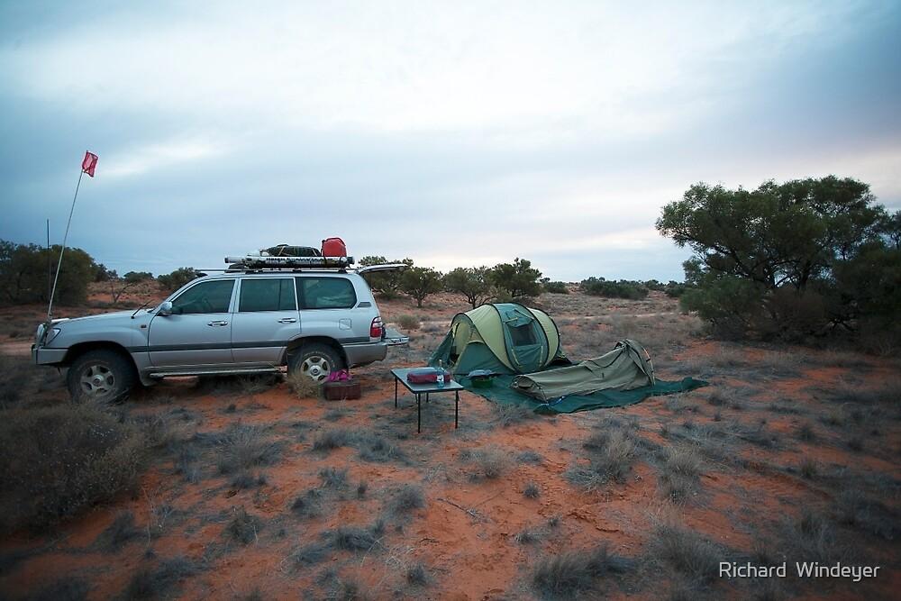 Campsite Hay River Track, Simpson Desert, NT by Richard  Windeyer