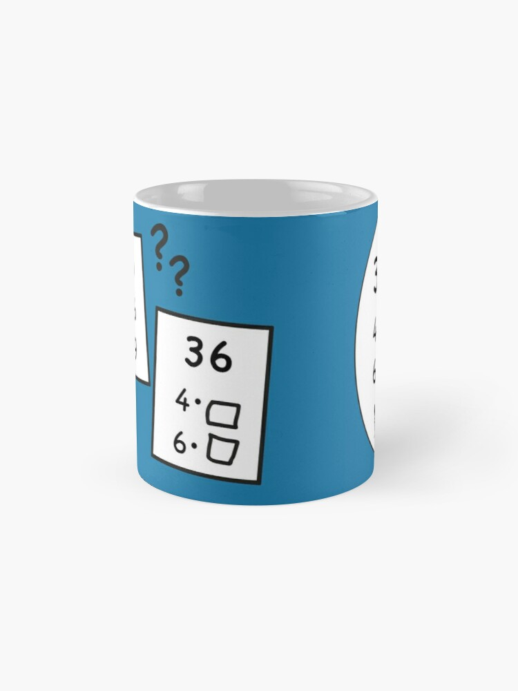 Alternate view of Difficult 1x1 tasks by the way, today the 36 - cocoa with brains - learning with fun Mug