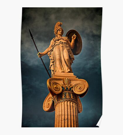 Greece. Athens. The statue of Athena. Poster