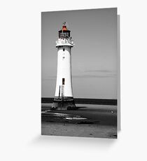 Lighthouse at the Wirral Greeting Card