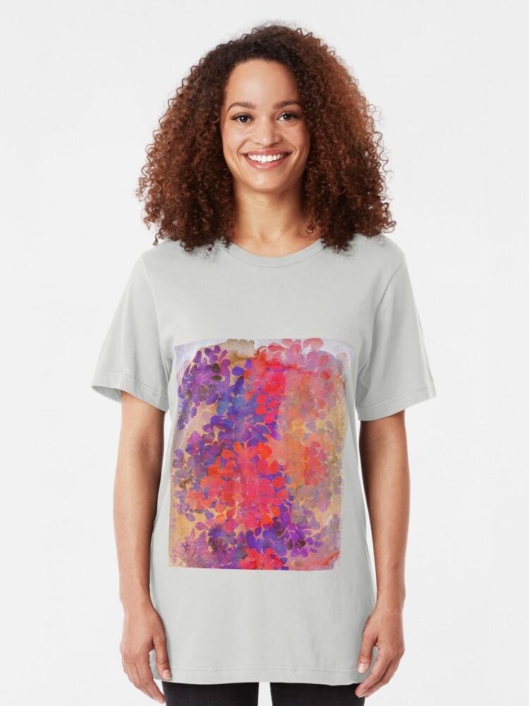 Alternative Ansicht von florale Komposition Slim Fit T-Shirt