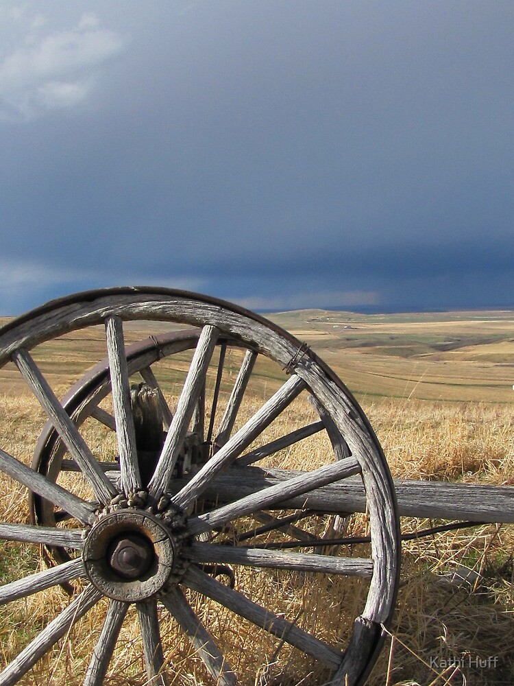 Weathered Wheel by Kathi Huff