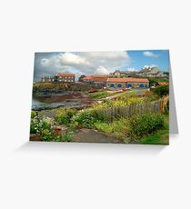 Craster Harbour Greeting Card