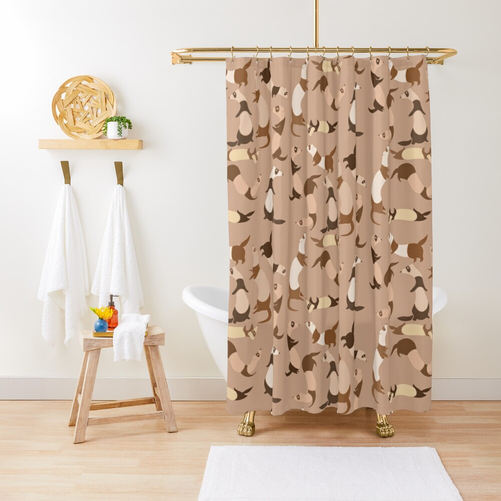 Ferret in light brown Shower Curtain