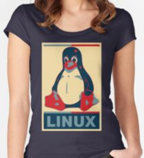 Linux Tux Women's Fitted Scoop T-Shirt
