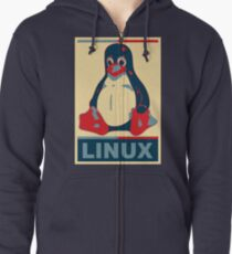 Linux Tux Zipped Hoodie