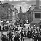 Trafalgar Square from the National, London by Nick  Gill