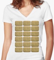 Nice Biscuits Women's Fitted V-Neck T-Shirt