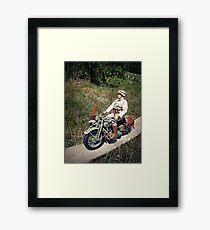 ~Motorcycle Joe~ Framed Print