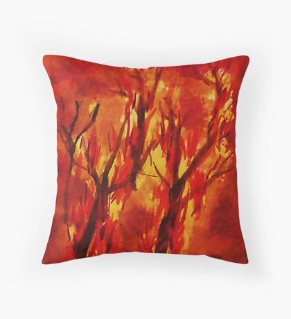 Fire!! Natural Disasters, for Series, Watercolor Throw Pillow