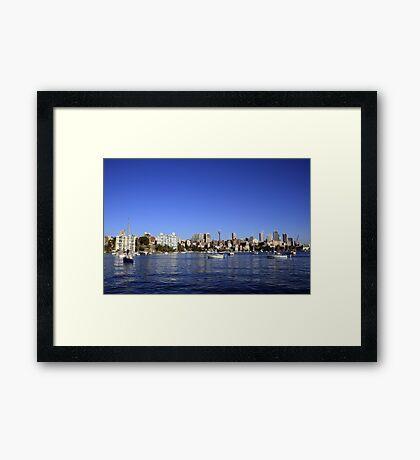 Boats In Sydney Framed Print