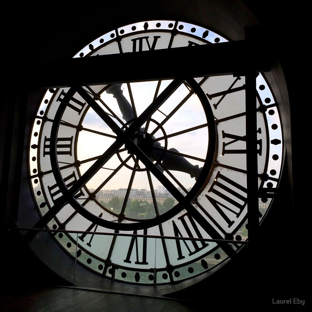 Clock at Musée d'Orsay by Laurel Eby