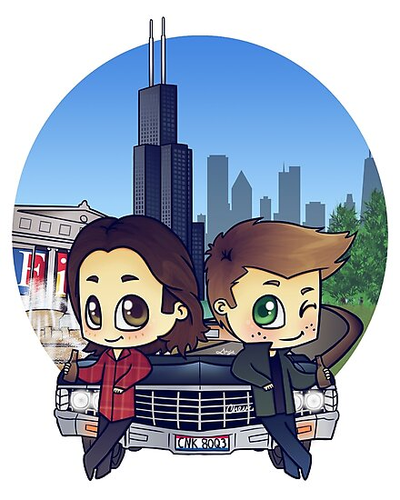 Winchesters in Chicago by bonejangless