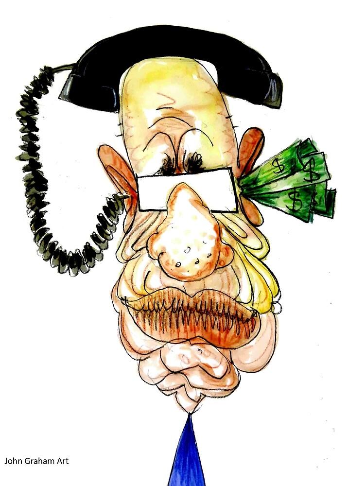 Rupert Murdoch  by johngrahamart