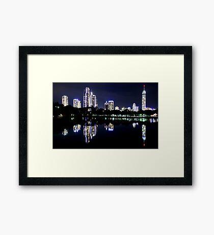 City Blues Framed Print