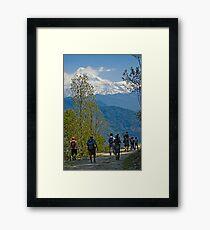 Trekking Framed Print