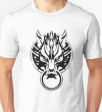 Cloud Strife's Wolf Emblem (Black) Unisex T-Shirt