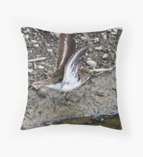 Common Sandpiper Throw Pillow