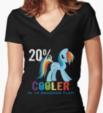 20% cooler in 10 seconds flat Women's Fitted V-Neck T-Shirt